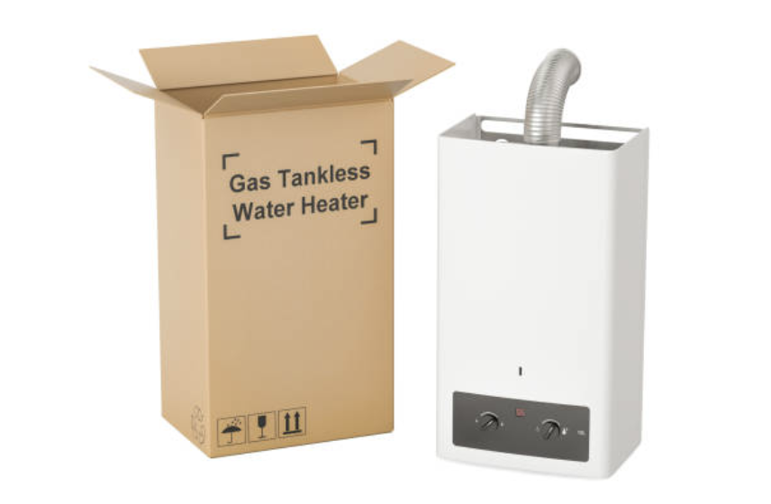 tankless water heater box